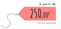 Tarif : réalisation de logo à partir de 250€ - Marina Gri | Graphiste - illustratrice